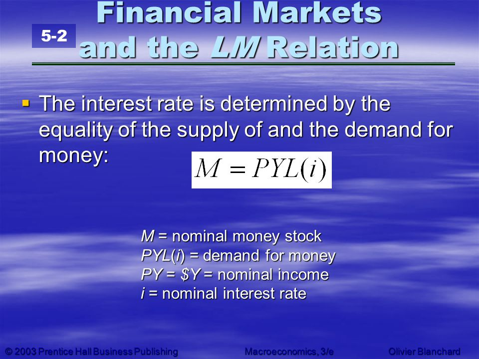 Financial Markets and the LM Relation