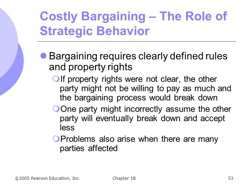 Costly Bargaining – The Role of Strategic Behavior