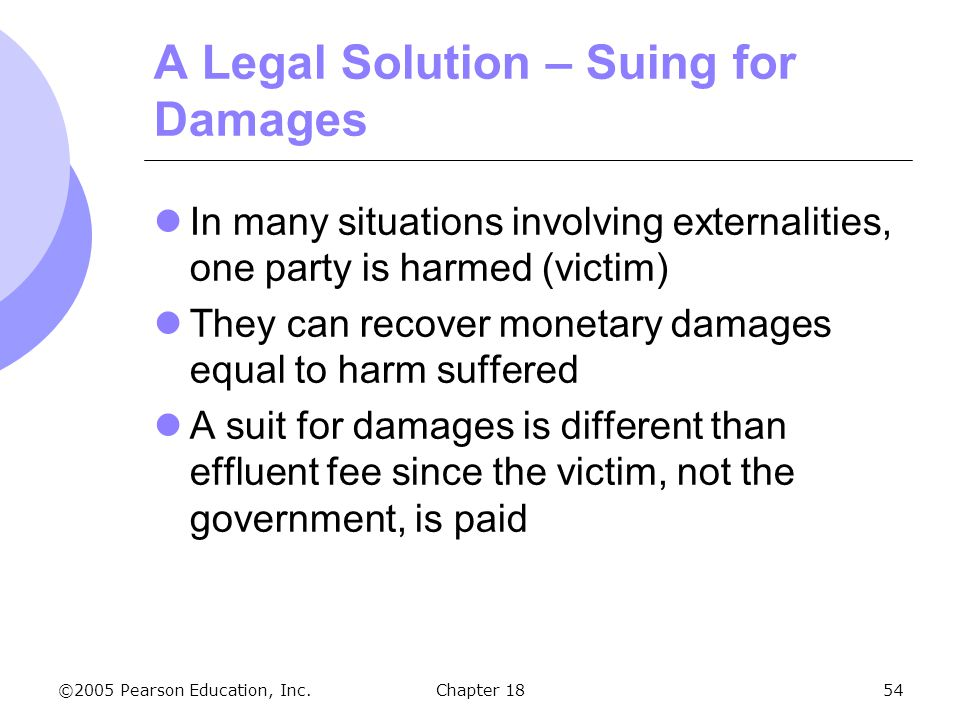 A Legal Solution – Suing for Damages