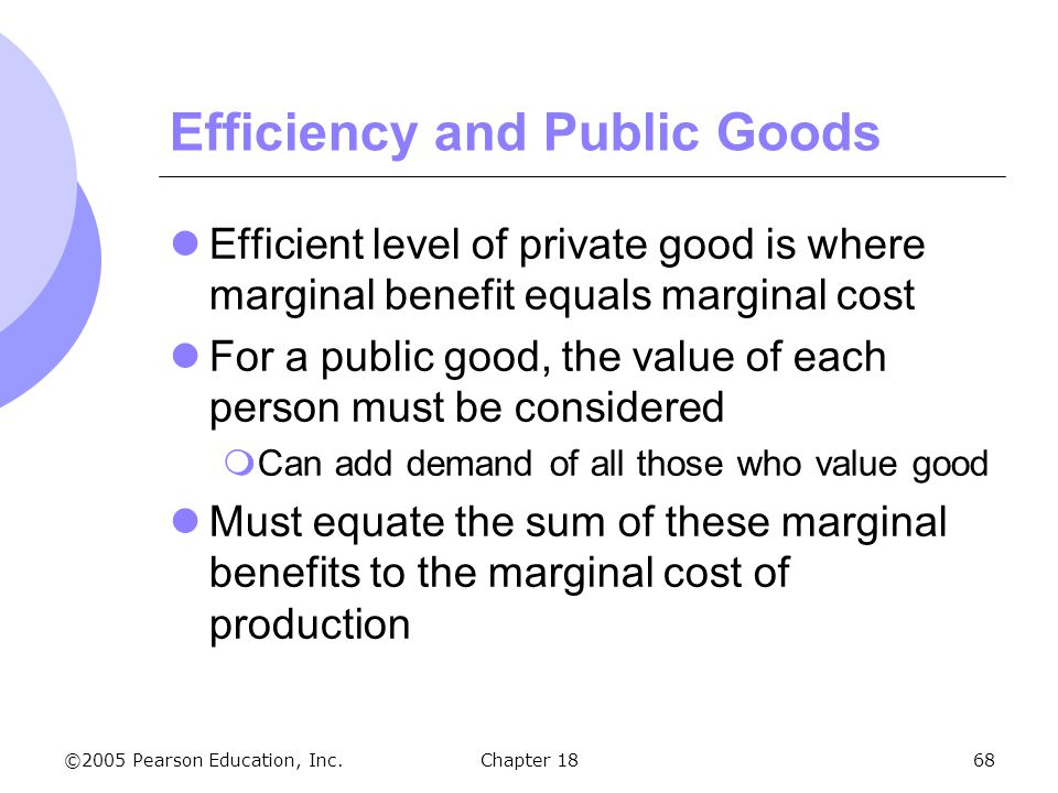 Efficiency and Public Goods