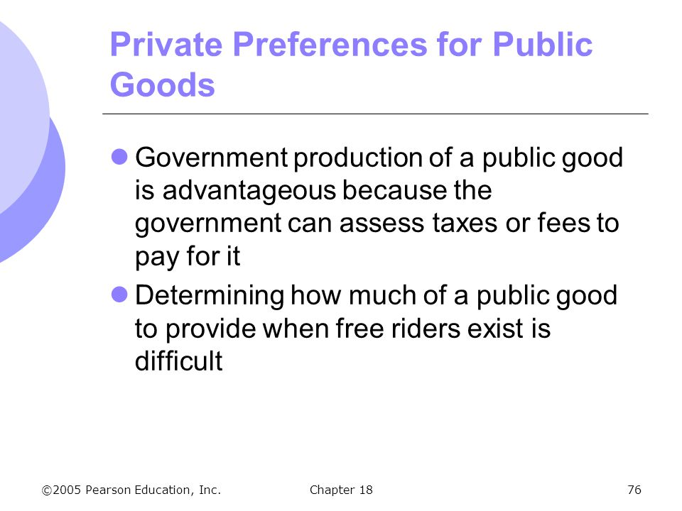 Private Preferences for Public Goods