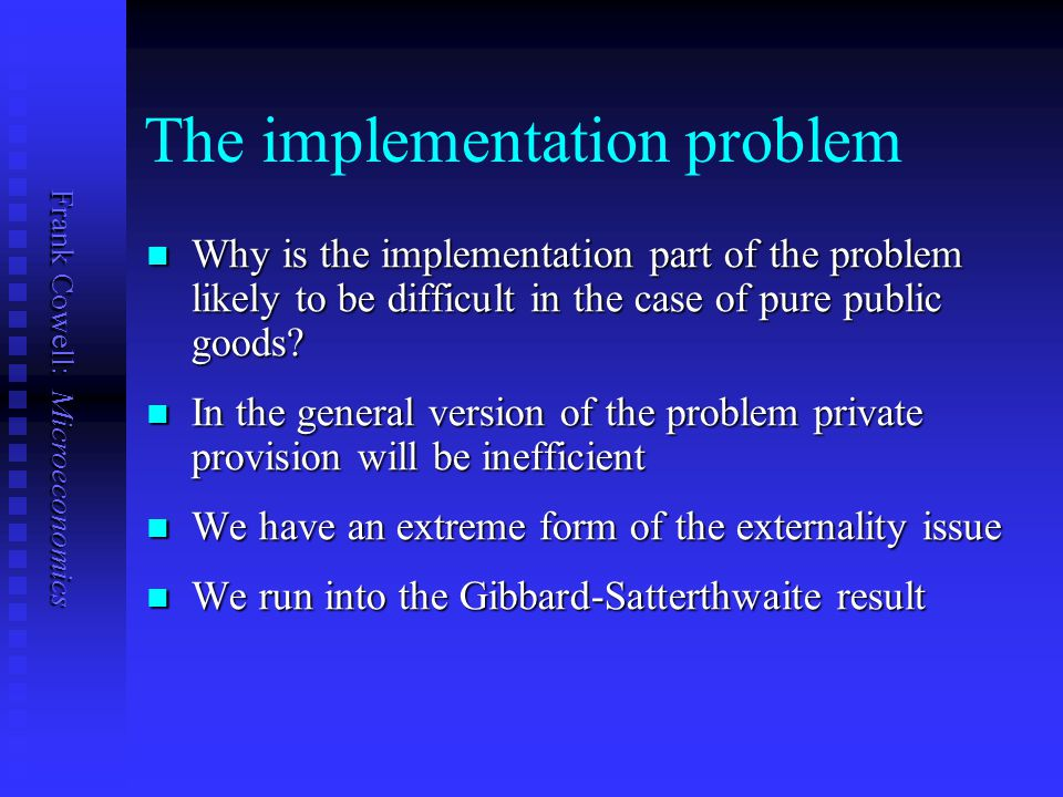 The implementation problem