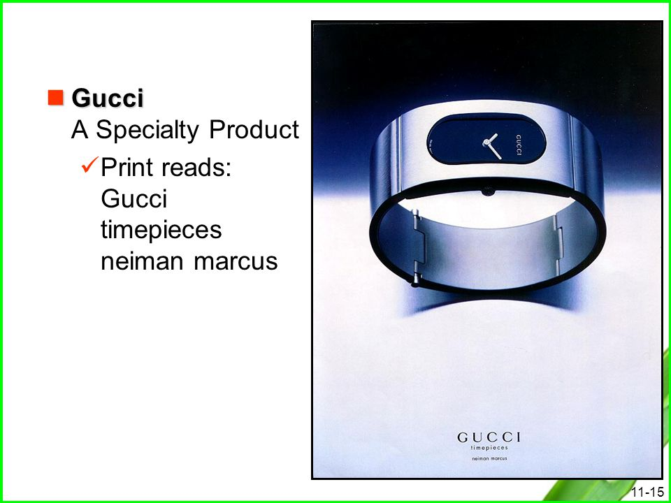 Gucci A Specialty Product