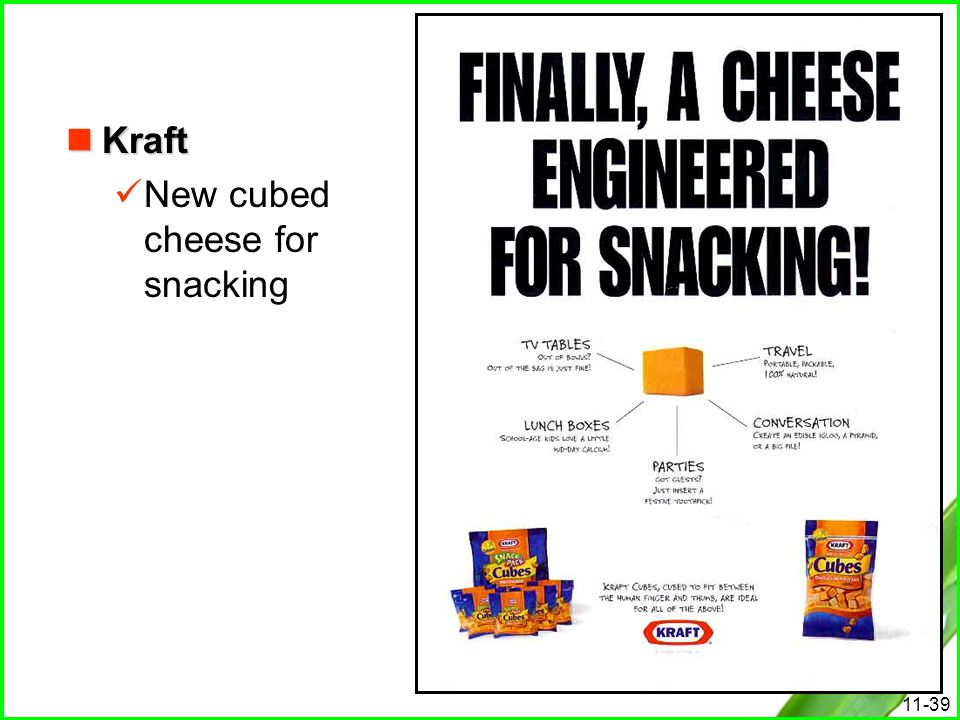 Kraft New cubed cheese for snacking