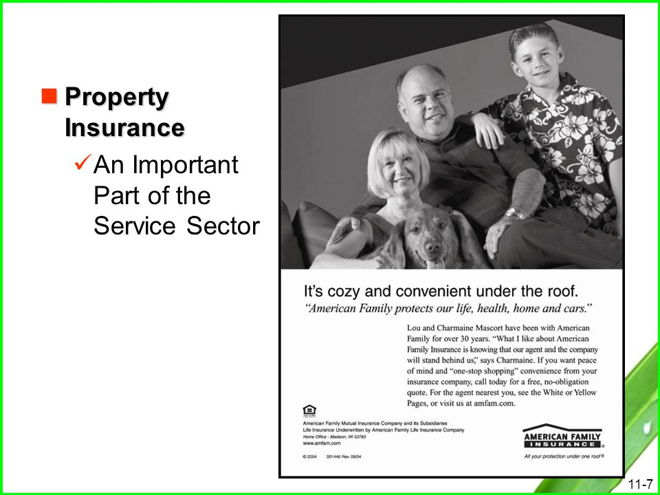 Property Insurance An Important Part of the Service Sector