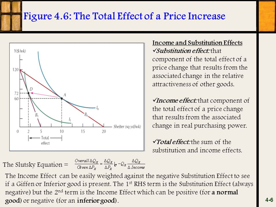 Figure 4.6: The Total Effect of a Price Increase
