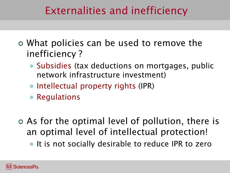Externalities and inefficiency