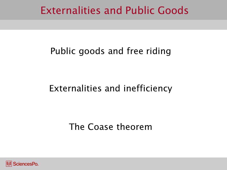 Externalities and Public Goods
