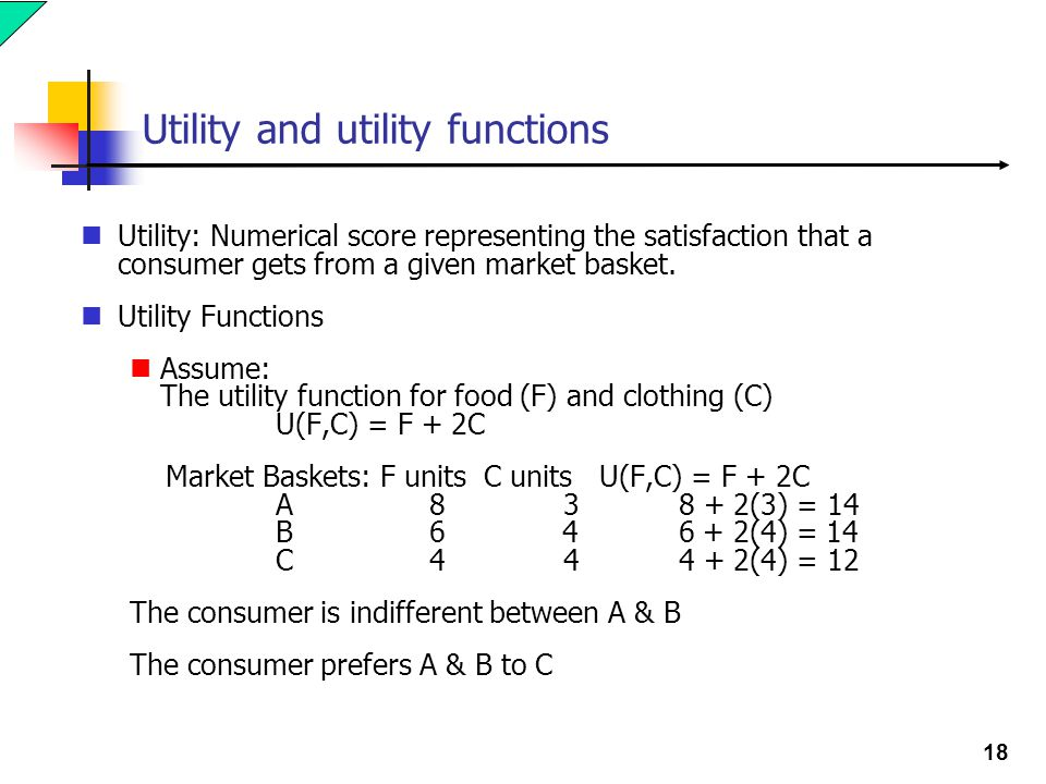 Utility and utility functions