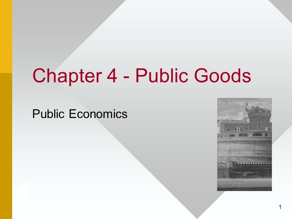 Chapter 4 - Public Goods Public Economics