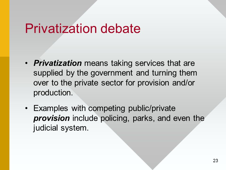 Privatization debate