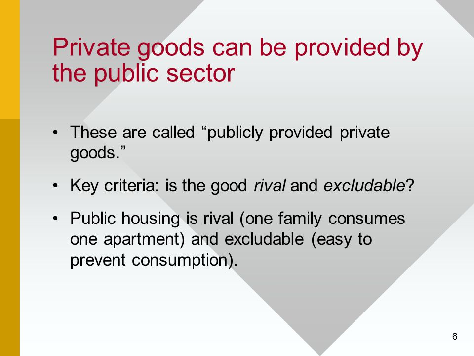 Private goods can be provided by the public sector