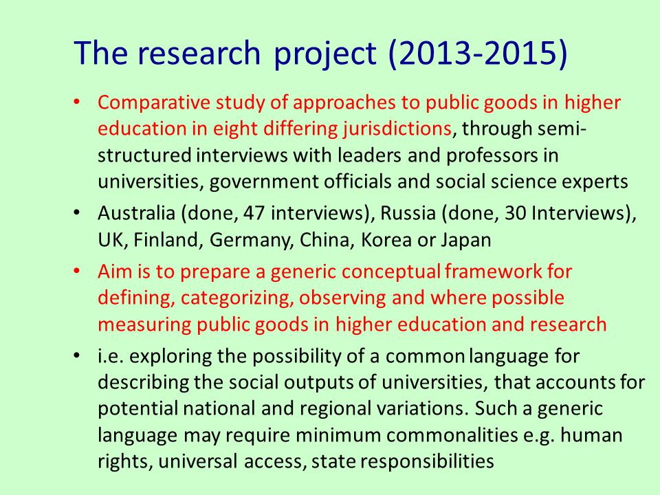 The research project ( )