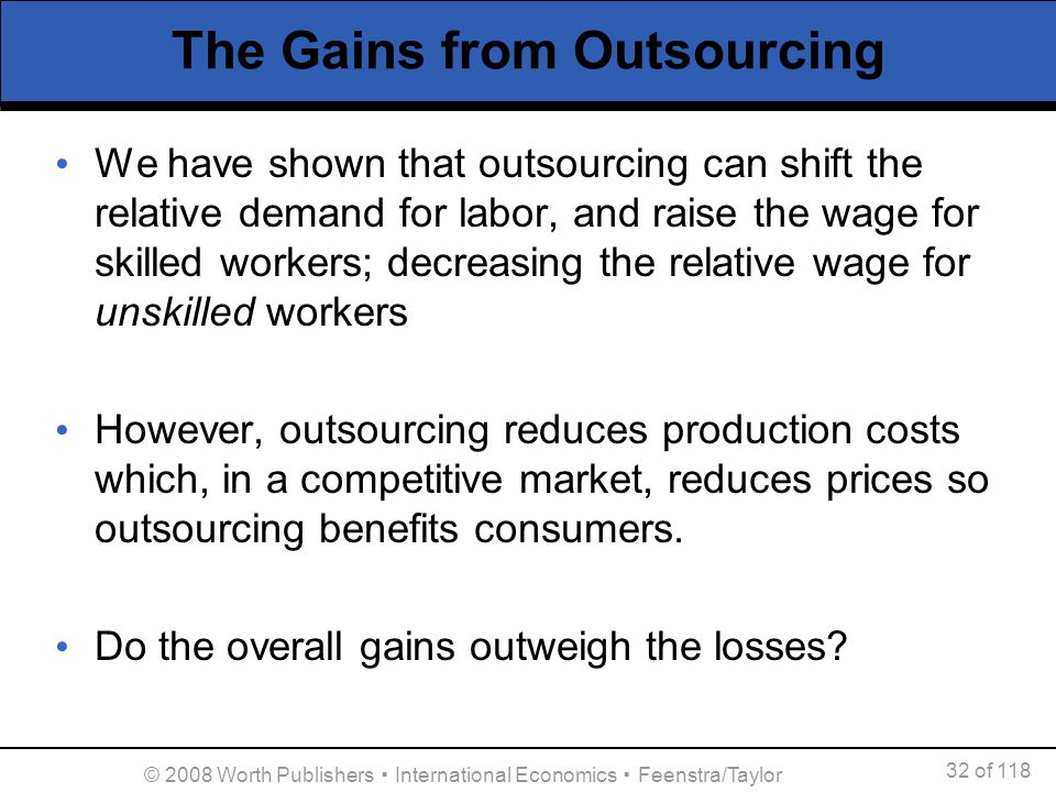 The Gains from Outsourcing