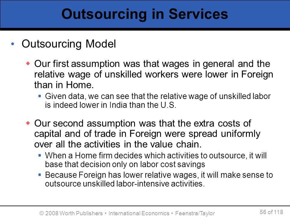 Outsourcing in Services