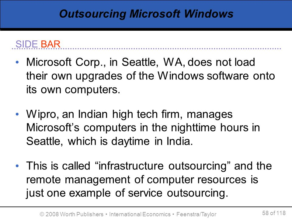 Outsourcing Microsoft Windows