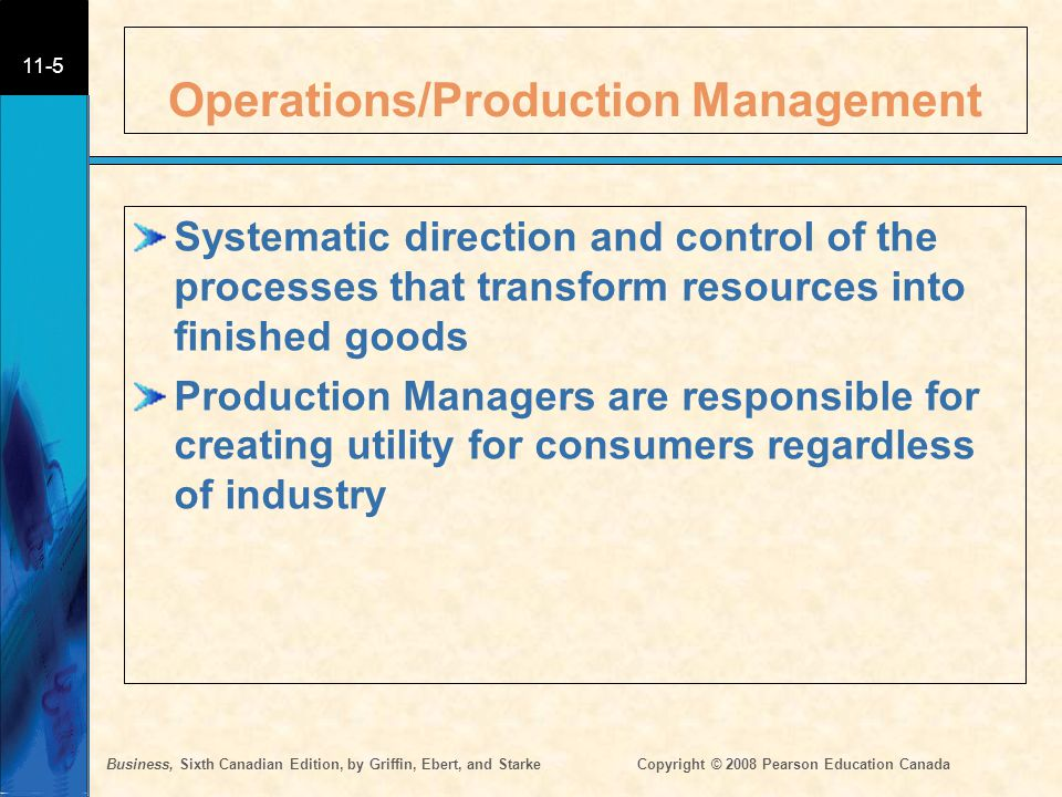 Operations/Production Management
