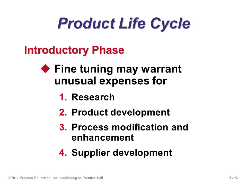 Product Life Cycle Introductory Phase