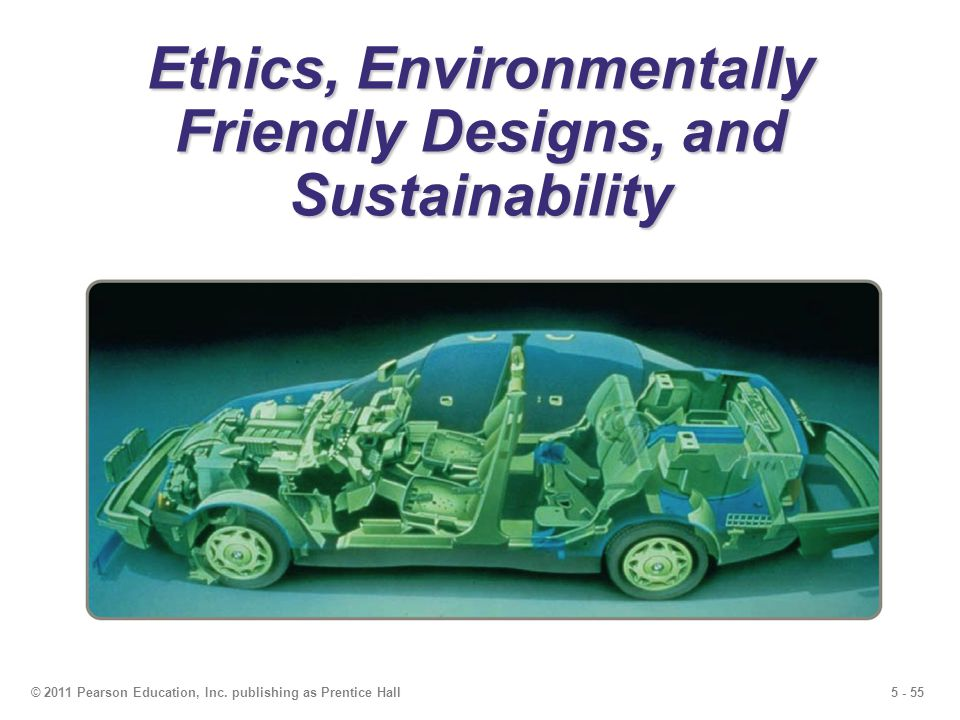 Ethics, Environmentally Friendly Designs, and Sustainability