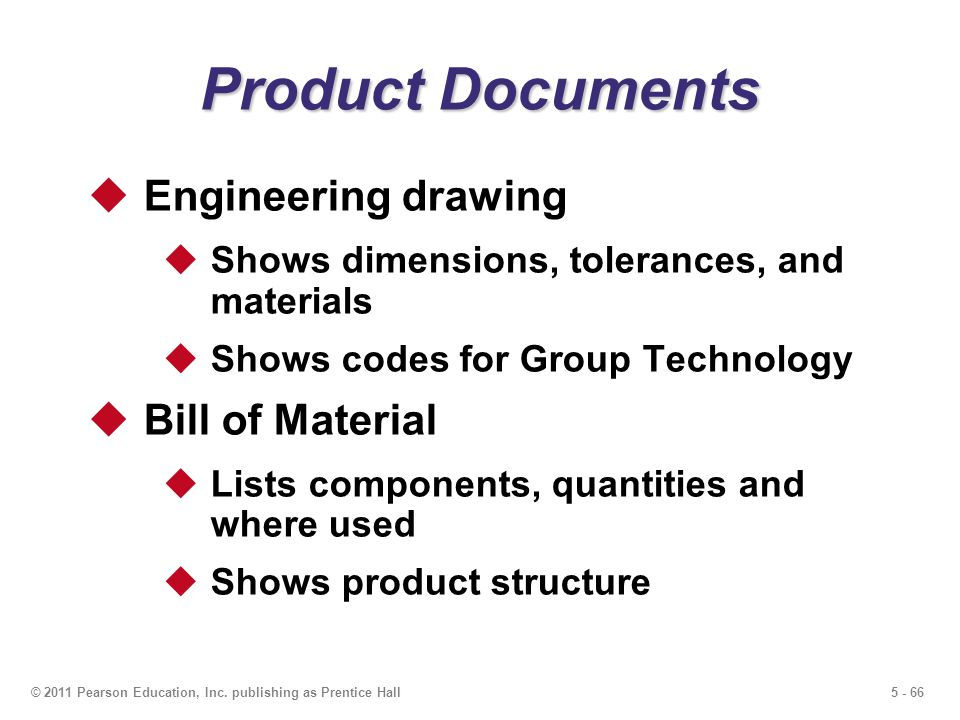 Product Documents Engineering drawing Bill of Material