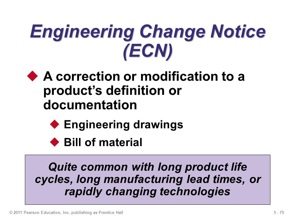 Engineering Change Notice (ECN)