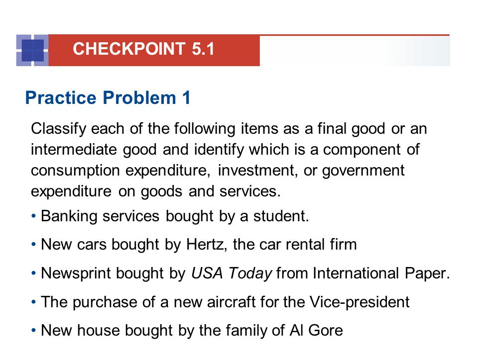 Practice Problem 1 CHECKPOINT 5.1