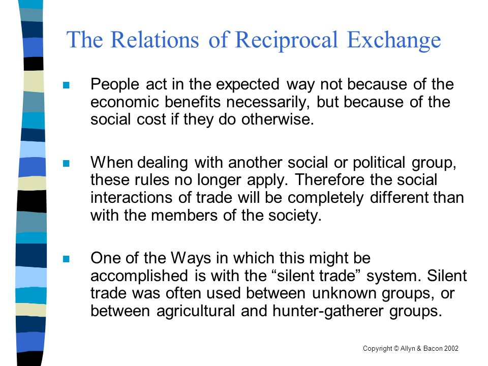 The Relations of Reciprocal Exchange