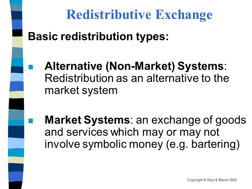 Redistributive Exchange