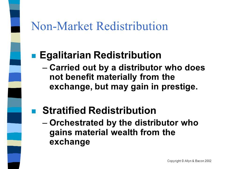 Non-Market Redistribution