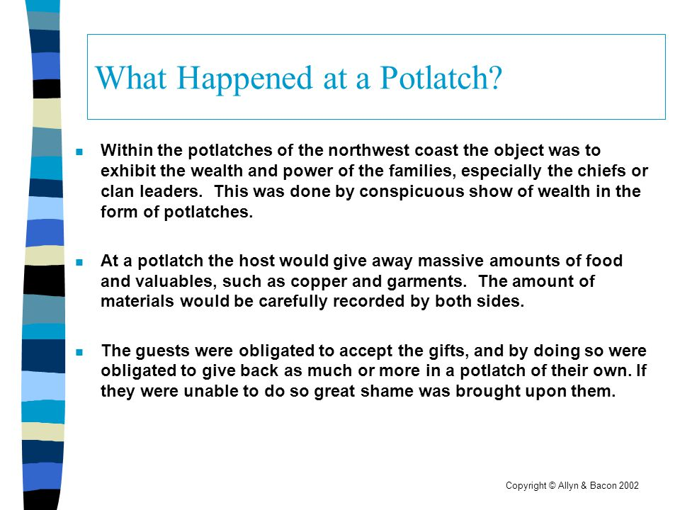 What Happened at a Potlatch