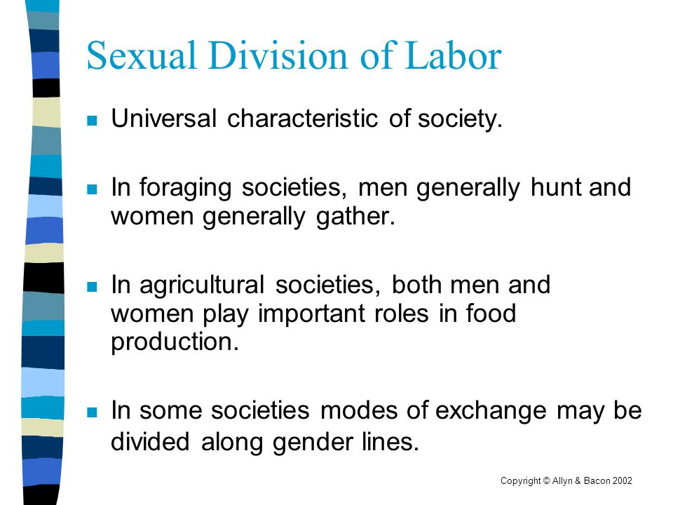 Sexual Division of Labor