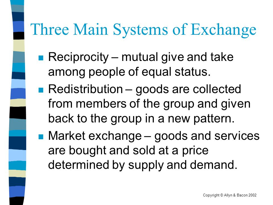 Three Main Systems of Exchange