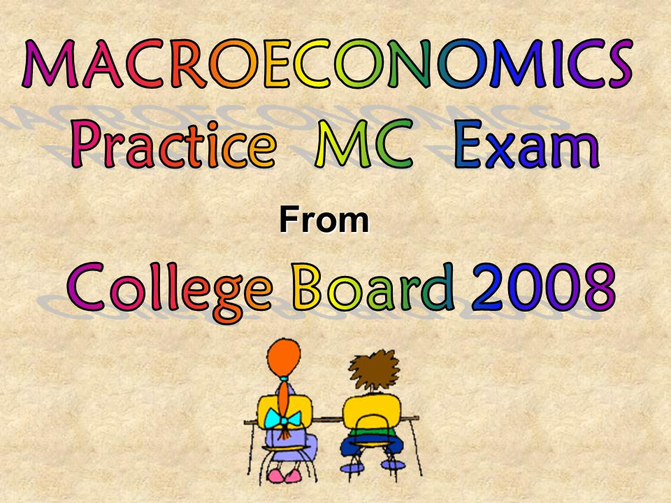 MACROECONOMICS Practice MC Exam From College Board 2008