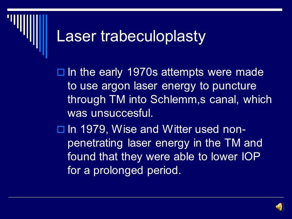 Laser trabeculoplasty