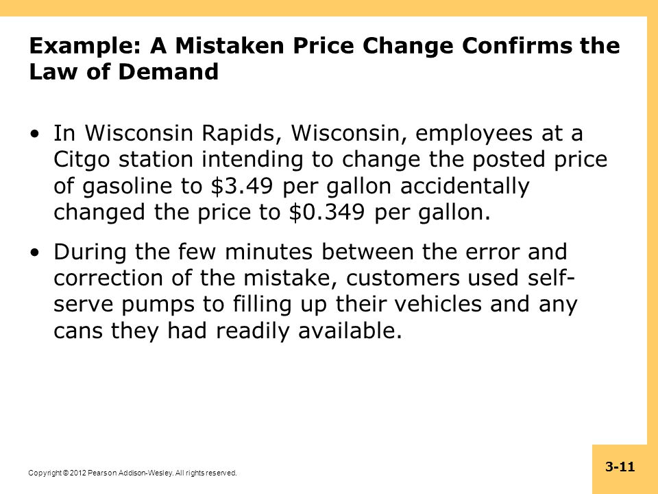 Example: A Mistaken Price Change Confirms the Law of Demand