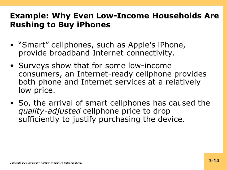 Example: Why Even Low-Income Households Are Rushing to Buy iPhones