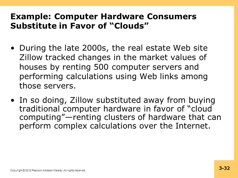 Example: Computer Hardware Consumers Substitute in Favor of Clouds