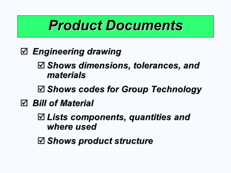 Product Documents Engineering drawing