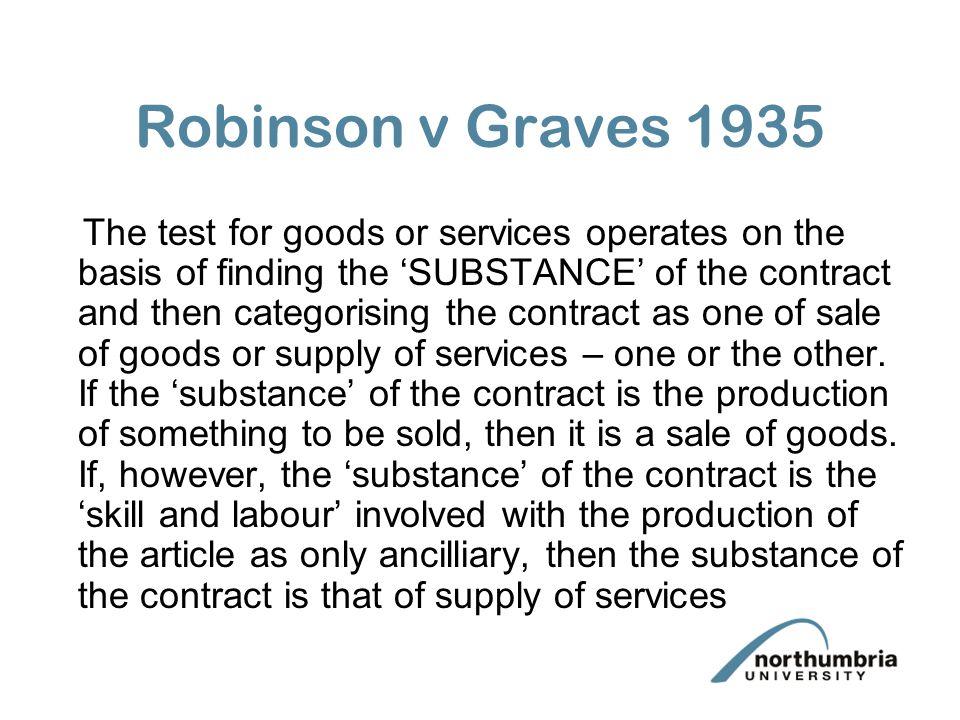 Robinson v Graves 1935