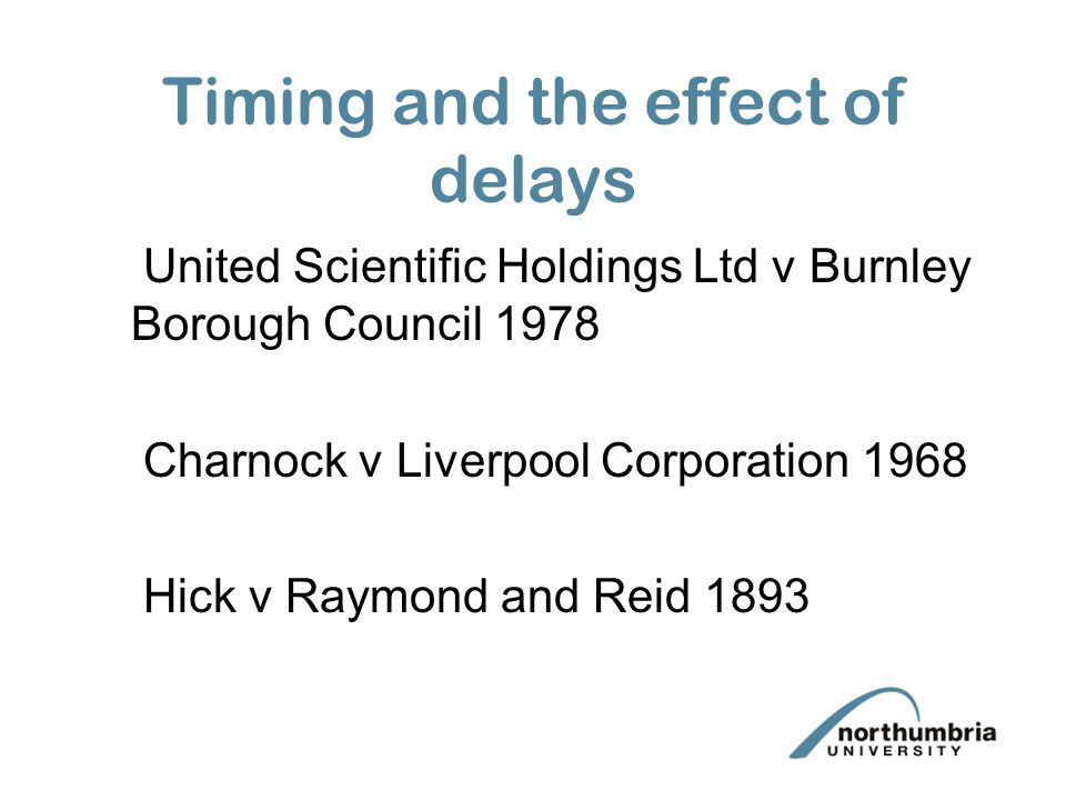 Timing and the effect of delays