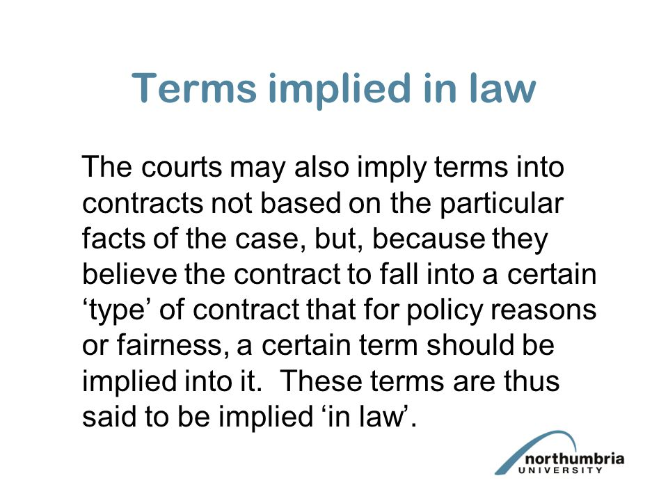 Terms implied in law