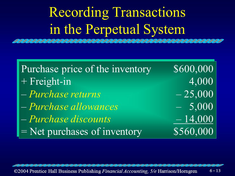 Recording Transactions in the Perpetual System