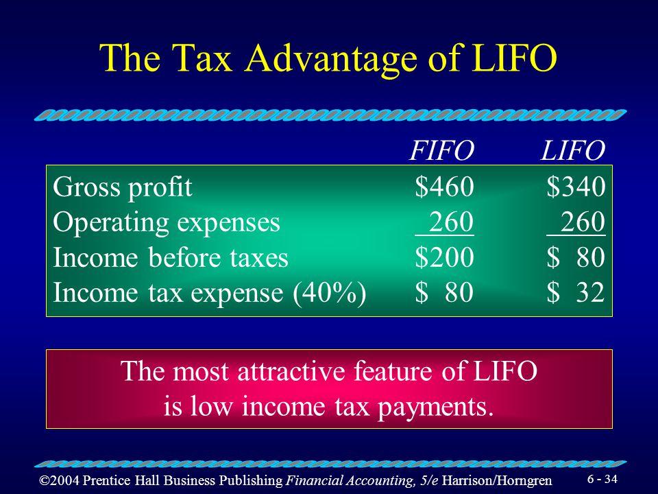 The Tax Advantage of LIFO