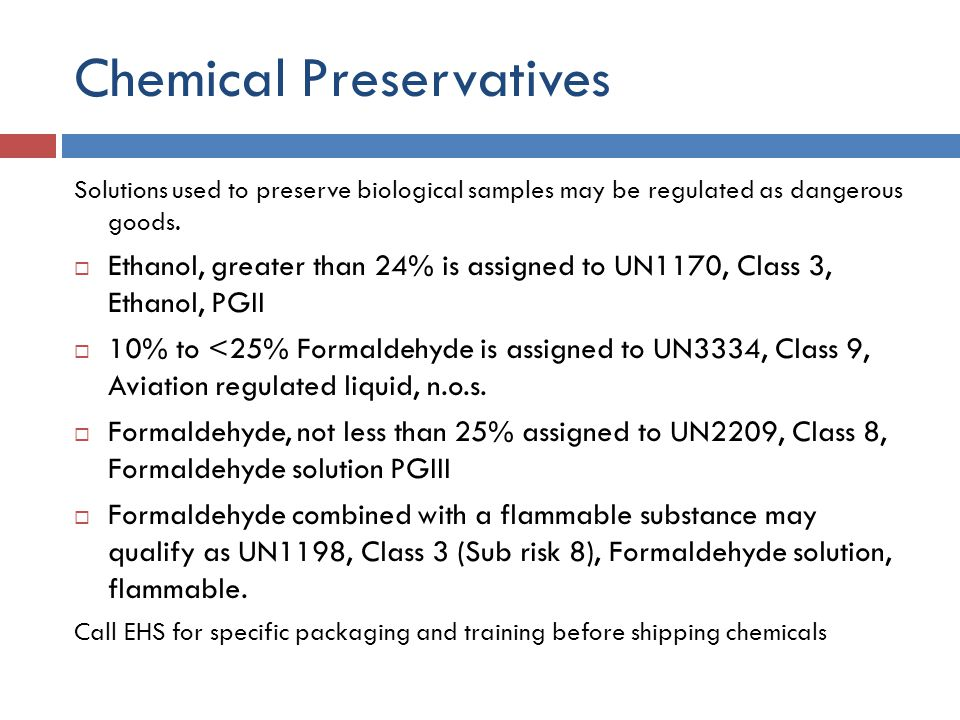 Chemical Preservatives