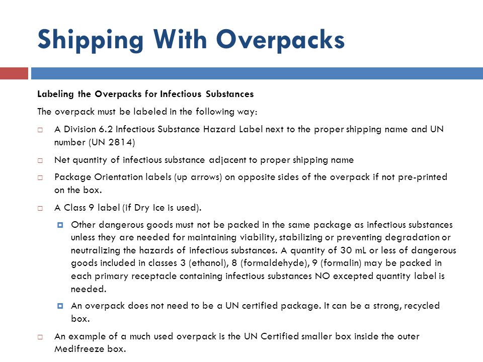 Shipping With Overpacks
