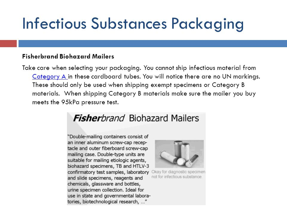 Infectious Substances Packaging