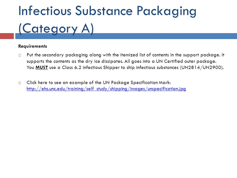 Infectious Substance Packaging (Category A)