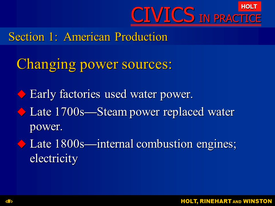 Changing power sources: