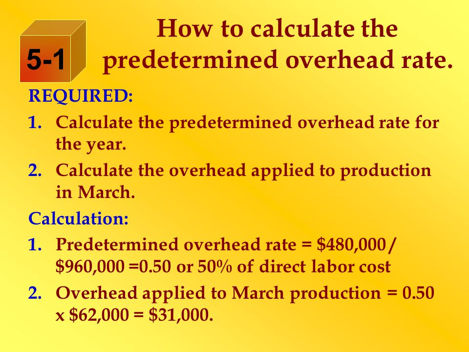 How to calculate the predetermined overhead rate.
