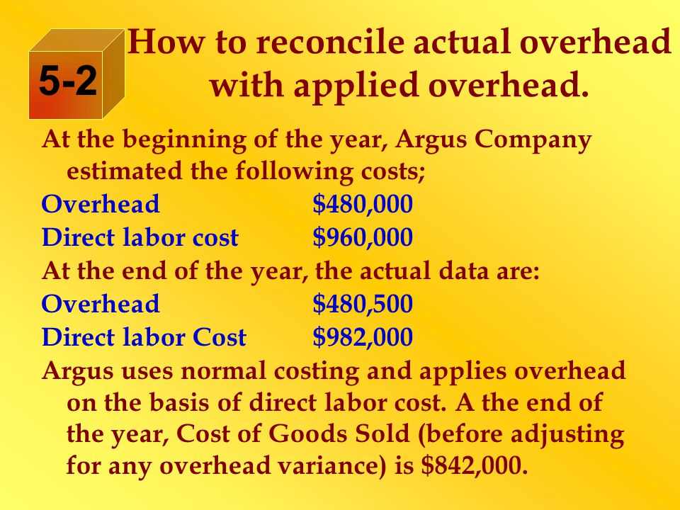 How to reconcile actual overhead with applied overhead.